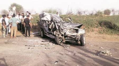 land grabeers, accident, haryana land grabbers, rajasthan accident, churu accident, land grabber accident, indian express news, india news