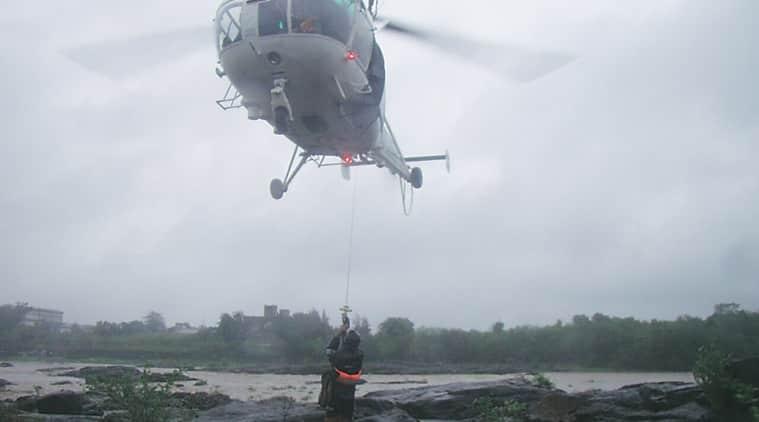Gujarat, South Gujarat incident, Gujarat River, Damanganga river, Water level in Damanganga river river, Valsad district of South Gujarat, Indian coast guard, Indian coast guard helicopter,  9 persons rescued, gujarat news, india news