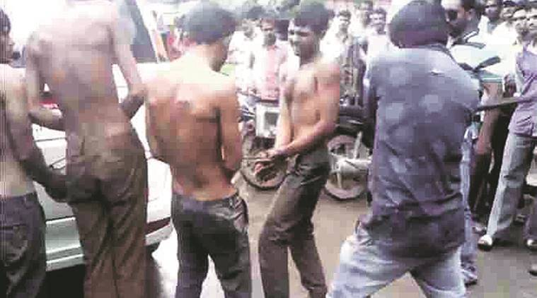 una, una dalit thrashing, una dalit thrashed, gaurakshak thrash dalit, Gir Somnath district, beef ban, dalit thrashed, cow skinning, dead cow skinning, save cow, cow salughter, indian express news, Gir-Somnath Dalit assault case, dalit, dalit assault, gir dalit, una police, india news