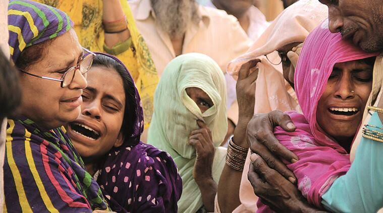 dadri, dadri lynching, dadri cow lynching, mohd akhlaq, mohd akhlaq lynching, akhlaq lyching, beef ban, cow salughter, meat forensic, mathura forensic test, akhlaq family, condition of family, beef lynching, dadri beef, dadri beef lynching, dadri akhlaq, dadri akhlaq lyncjhing, dadri beef akhlaq, what happend in dadri, delhi dadri lynching, bisara lynching, indian express news, india news, dadri lynching updates