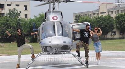 Varun, John, Jacqueline's Dishoom live stunt ends as a damp squib, literally