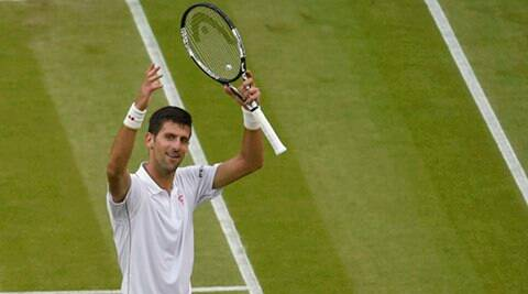 Britain Tennis - Wimbledon - All England Lawn Tennis & Croquet Club, Wimbledon, England - 29/6/16 Serbia's Novak Djokovic celebrates winning his match against France's Adrian Mannarino REUTERS/Toby Melville