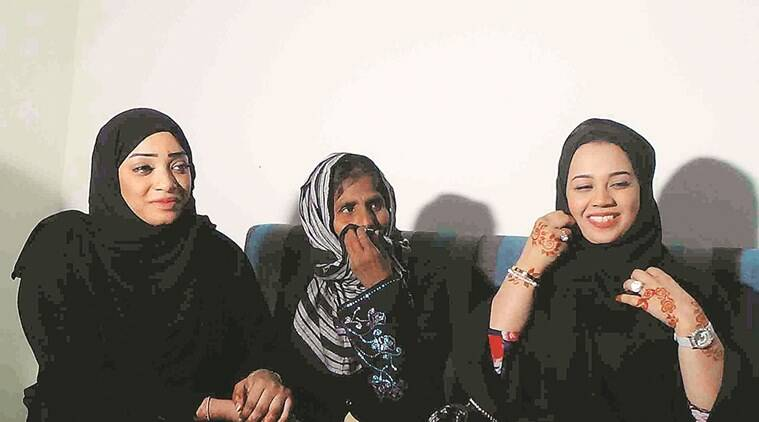 hyderabad, dubai missing, mother missing, missing mother, hyderabad police, daughter mother separation, dubai wonan missing, nazia finds daughters, indian express news, india news