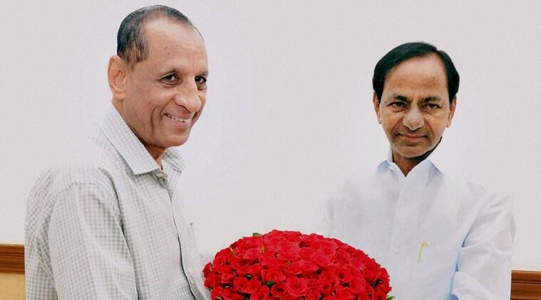 Did Governor E.S.L. Narasimhan brought KCR closer to BJP?