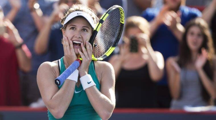 Rogers Cup At Home Eugenie Bouchard Works Hard For Win Over Lucie