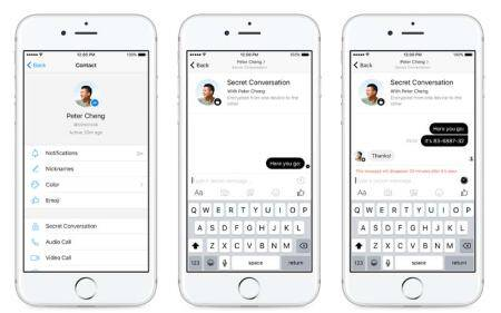 Facebook Messenger Secret Conversation, Facebook, Facebook Messenger, Facebook Messenger end-to-end encryption, Facebook Messenger Secret Convo