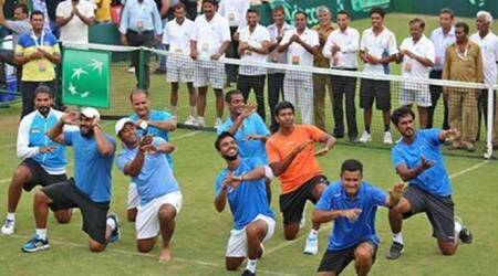 Davis Cup: India players dance to Bollywood tunes after win over Korea