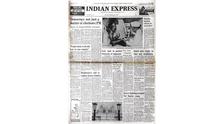 forty years ago, indira gandhi, elections-sovient union, libyan arab airlines, skyjacked, immigration policy, british immigartion policy, indian express news
