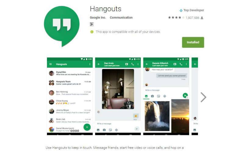 Google Hangouts for Android gets support for video message