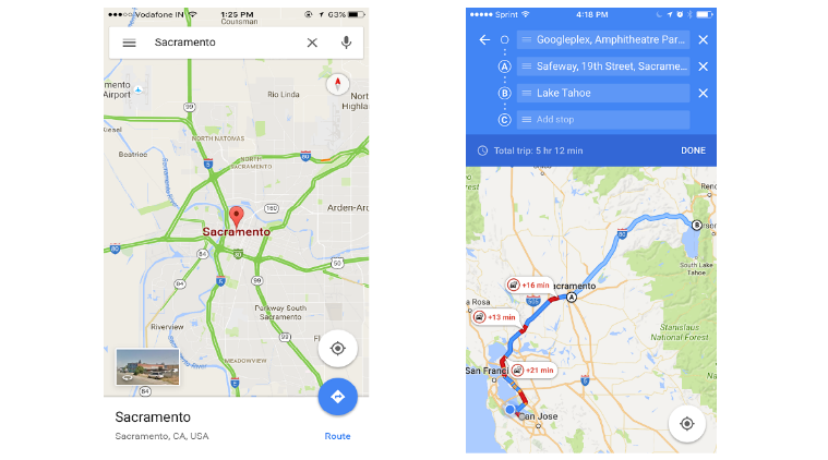google, google maps, multi-stop navigation, google maps update, ios update, google update