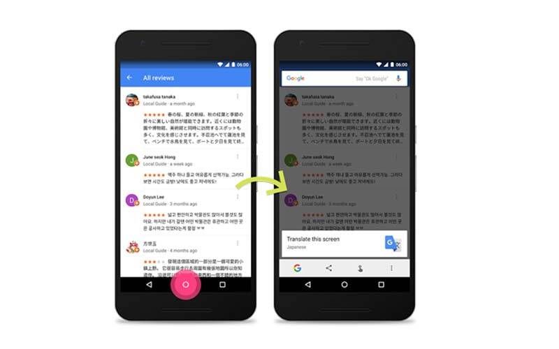 Google Now on Tap update adds app translation, barcode/QR scanner, and more