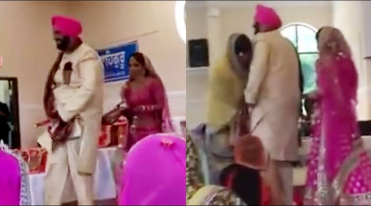 Funny Wedding Video Punjabi Groom Pyjama Falls Embarrassing Videos