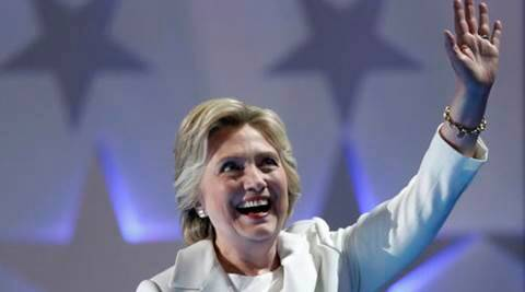 Democratic presidential nominee Hillary Clinton waves as she takes the stage during the final day of the Democratic National Convention in Philadelphia , Thursday, July 28, 2016. (AP Photo/Paul Sancya)