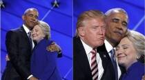 Remember President Obama and Hillary Clinton's hug? It has been photoshopped left right and centre
