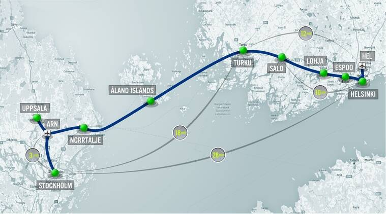 The Hyperloop is claimed to cover ~500 kilometers in less than half an hour