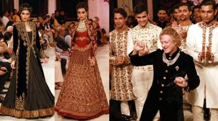 rohit bal, rohit bal russian designs, rohit bal designs, rohit bal icw 2016, india couture week 2016, icw 2016, celeb fashion