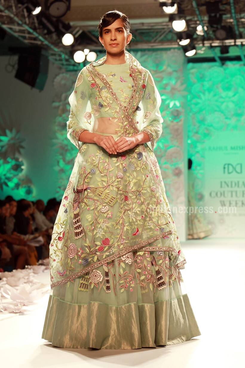 bcacb110d0d When nature turns inspiration  Rahul Mishra s collection at ICW 2016 ...
