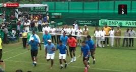 Indian Davis Cup Team Dancing After 4-1 Win Over Korea On Sunday