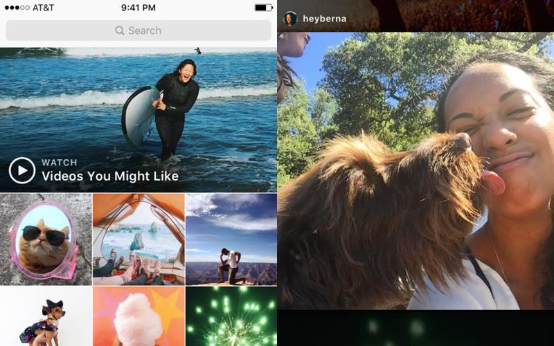 Instagram has started rolling out 'Videos You Might Like' curated videos globally (Source: Instagram)
