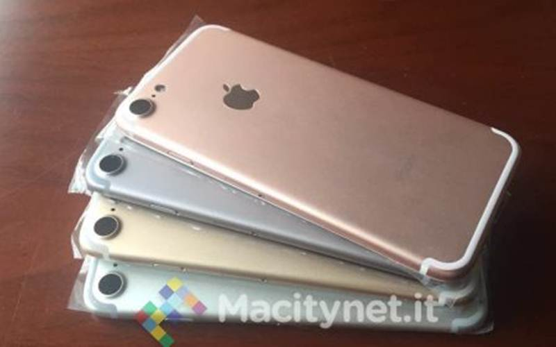 Apple iPhone 7 leaked images reveals it will come in four standard colour options (Source: Macitynet)