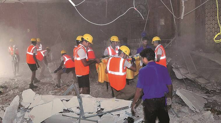 Fortune Park Bellacasa hotel, jaipur hotel, ceiling collapse, jaipur hotel ceiling collapse, people killed in jaipur ceiling collapse, injured people, indian express news