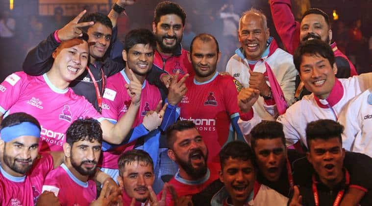 Pro Kabaddi Eague 2017, PKL season 5, Balwan Singh, Jaipur Pink Panthers, Abhishek Bachchan, Manjeet Chhillar, Jasvir Singh, Kabaddi news, Indian Express