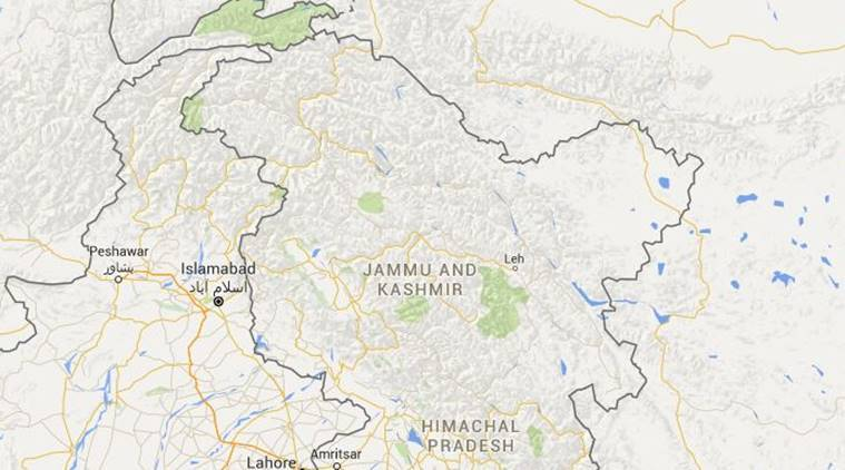 A part of Jammu and Kashmir occupied by Pakistan was given to China. Source: Google Maps