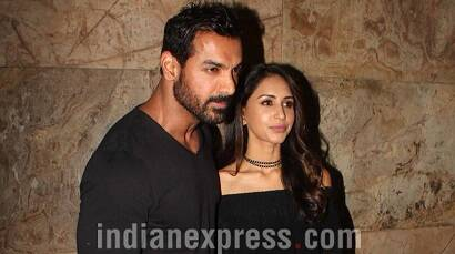 John Abraham spotted with wife Priya Runchal at Dishoom promotions