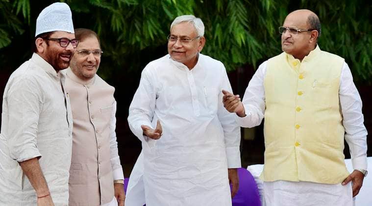 Sharad Yadav, Nitish Kumar, Lalu Yadav, KC Tyagi, grand alliance, NDA, JD(U), Indian Express, Bihar