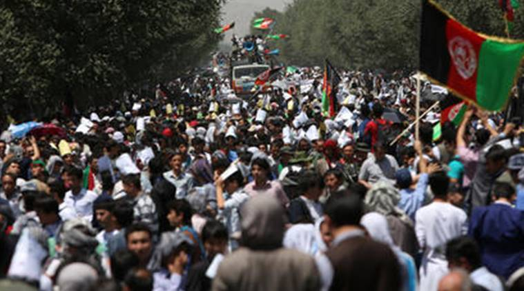 kabul, kabul attack, kabul hazara attack, hazara demonstration kabul, hazara minority, hazara attack, gas pipeline, world news