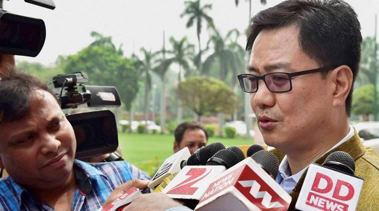 kiren rijiju, ulfa, ndfb, violent factions, minister of state, assam, assam outfits, india news, latest news