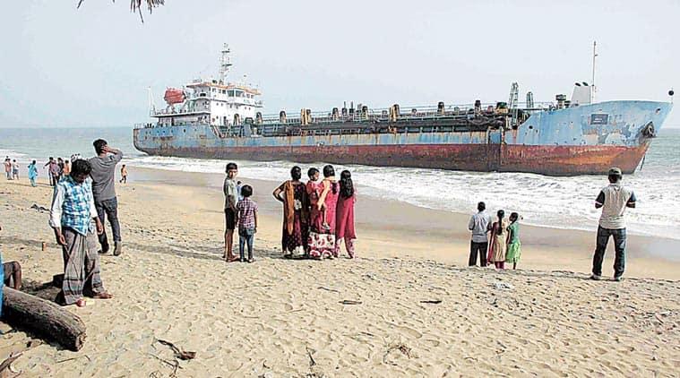 dredger kollam beach, kollam shore ship, kollam beach ship, kerala shore ship, kerala shore dredger, kollam news, kerala news