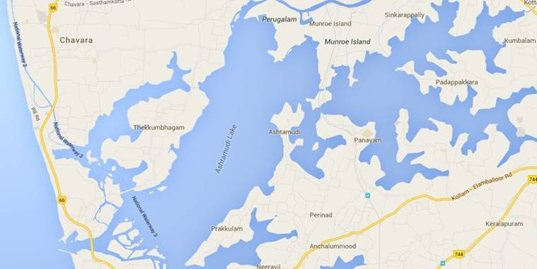 Islands in lake in Southern Kerala 'sinking' | India News, The ... on world map india agra, world map iran tehran, world map pakistan lahore,