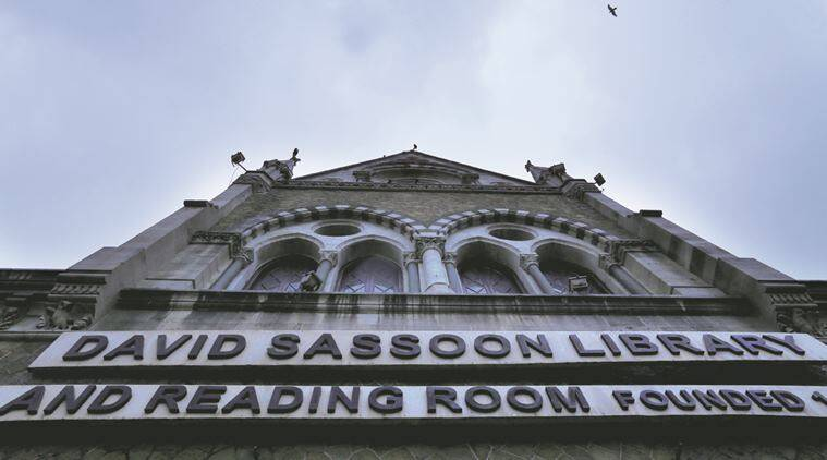 David Sassoon Library, Heritage building in Kalaghoda, Mumbai in a dilapidated condition. Water leaks from roof are common during rainy season. Express photo by Nirmal Harindran, 2nd July, 2016, Mumbai.