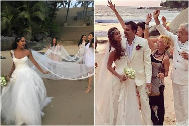 lisa haydon wedding, lisa haydon beach wedding, celebrity brides 2016