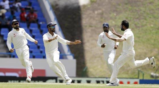 India in driver's seat against West Indies