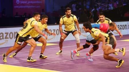 Pro Kabaddi Season 4, Pro Kabaddi Season 4 live video, Pro Kabaddi Season 4 live score, Kabaddi live score, kabaddi live streaming, Telugu Titans vs Jaipur Pink Panthers, Sports