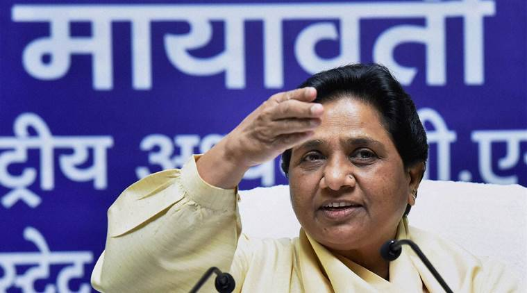 Lucknow : BSP supremo Mayawati addresses a press conference at the party office in Lucknow on Sunday. PTI Photo by Nand Kumar (PTI7_24_2016_000129B)