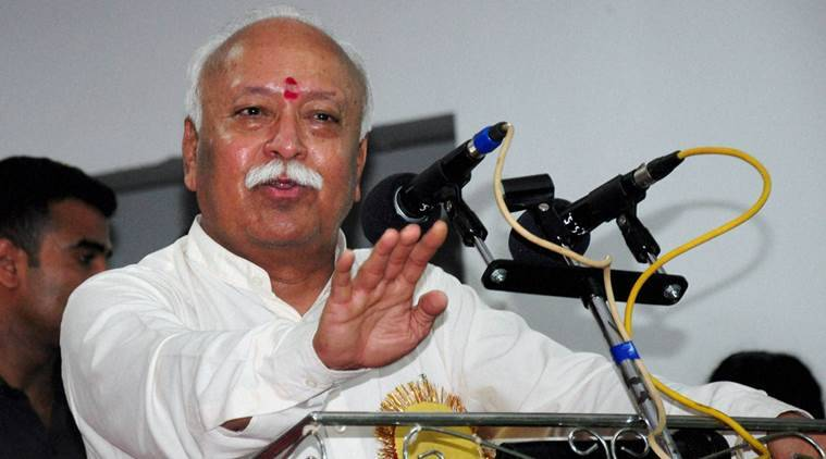 Mohan Bhagwat, Bhagwat, RSS, RSS chief in Ahmedabad, Mohan Bhagwat in Ahmedabad, Bhagwat meets Gujarat CM, India news, latest news, indian express