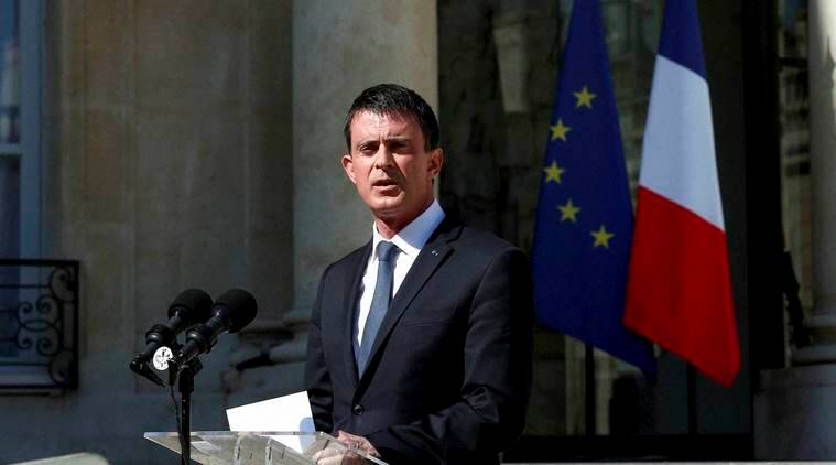 French Prime Minister Manuel Valls speaks to media after a security meeting at the Elysee Palace, in Paris, Friday, July 15, 2016. Prime Minister Valls said the government is declaring three days of national mourning after the attack in Nice. Speaking after an emergency meeting, Valls said the national mourning would begin Saturday. (AP Photo/Thibault Camus)(AP7_15_2016_000112A)