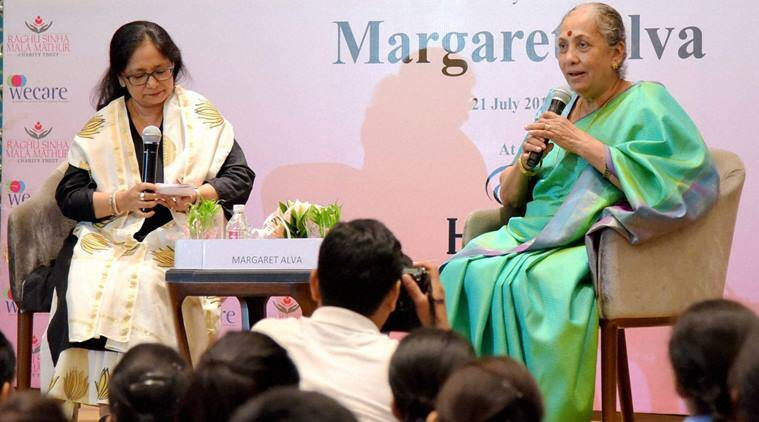 Margaret alva, rajasthan, rajasthan governor, jaipur, margaret alva autobiography, margaret alva book, courage and commitment, india news, rajasthan news, latest news