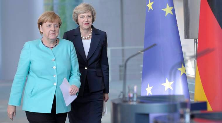 angela merkel, theresa may, brexit, brexit vote, britain exit, eu referendum, britain pm, eu, german chancellor, germany news, eu news, europe news, brexit news, britain news, latest news, world news