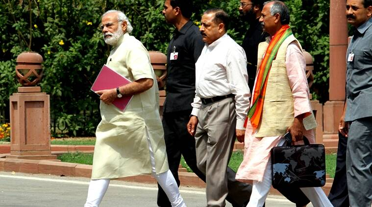 Image result for modi walking on foot with ministers