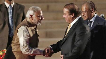 PM Modi and Nawaz Sharif meet after 17 months – mainly small talk at SCO