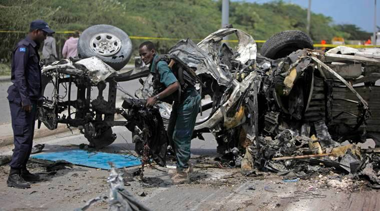 airport explosion, Mogadishu, Mogadishu airport, twin bombings, UN, African Union, Somalia, Al-Qaeda aligned Shabaab group, twin bombing, two bomb explosion, two bomb explosion somalia, latest news, latest world news