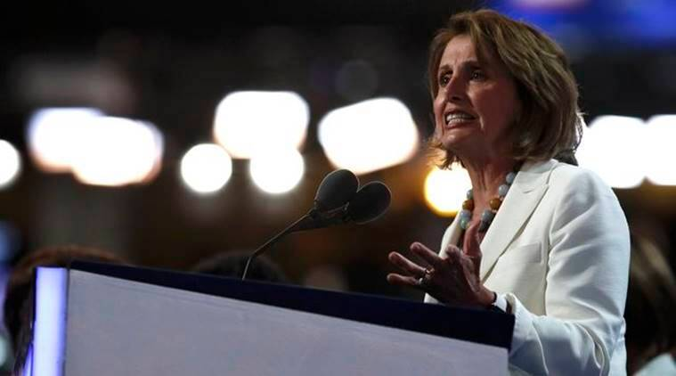 House Minority Leader Nancy Pelosi speaks on the second day of the Democratic National Convention in Philadelphia, Pennsylvania, U.S., July 26, 2016. REUTERS/Jim Young
