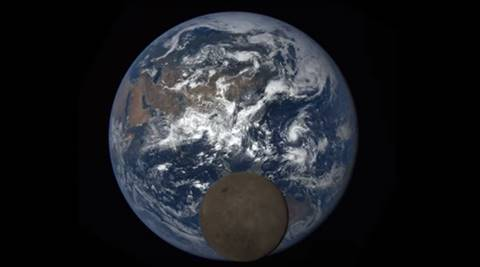 Moon photobombs Earth again in new NASA image!   The Indian Express