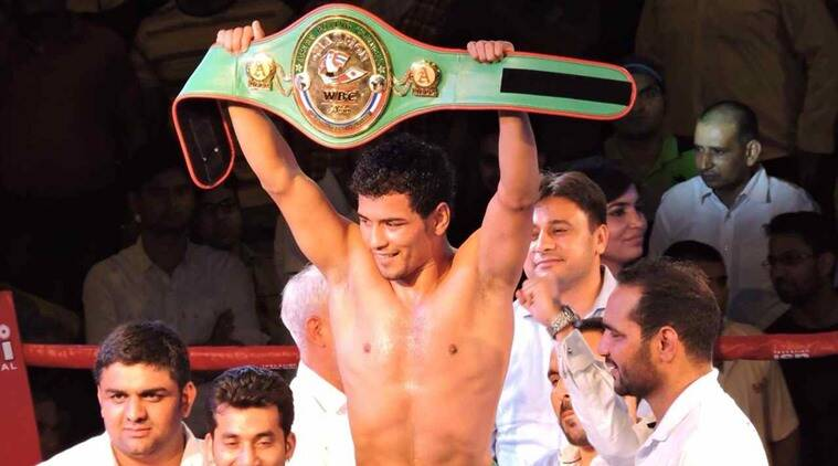 Neeraj Goyat, Railways, India Rail, WBC Asia-Pacific welterweight champion Neeraj Goyat, Sports News, Latest Sports News, India News, Indian Express, Indian Express News