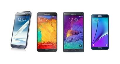 Samsung Galaxy Note: A look at design evolution through the years