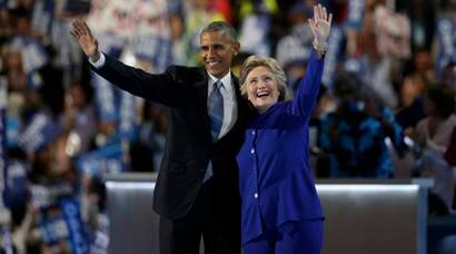 Barack Obama: Ready to pass the baton to Hillary Clinton